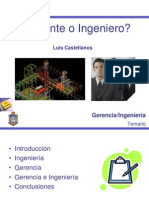 Gerente o Ingeniero
