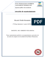 Mantenimiento Predictivo Con Mantenimiento y Preventivo de Un Centro de Computo en La Localidad de San Matias Tlalancaleca