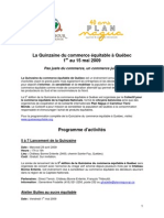 Programmation Quinzaine Québec