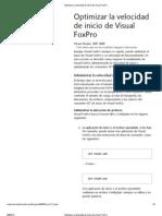 FOXUSER-Optimizar La Velocidad de Inicio de Visual FoxPro