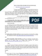 Referencias o citas para documentos electrónicos