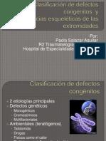 Clasificación de defectos congénitos  y deformidades esqueleticas