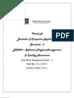 BC0054 - Software Project Management & Quality Assurance Set - 2