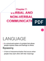 Chapter7 Verbal and Non-Verbal Communication