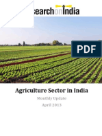 Agriculture Sector in India April 2013