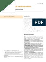 Certificado médico argentina
