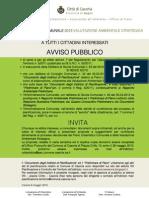 Manifesto Avviso PUC 08.05.2013