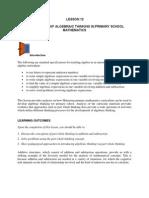 LESSON 12 on Algebraic Thinking-1