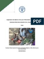 Organisation des Nations Unies pour l'Alimentation et l'Agriculture  DIVISION DES OPERATIONS D'URGENCE ET DE LA  RÉHABILITATION