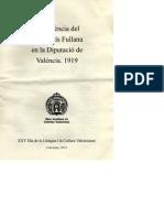 Conferència P. Fullana en la Diputacio Valéncia sobre la cooficialitat del valencià, 1919