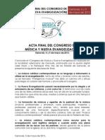 Acta Final Del Congreso