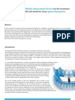 The efficiency of mandibular advancement devices for the treatment of snoring and mild and moderate sleep apnoea-hypopnoea