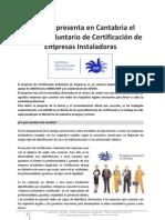 Información sobre CERTIFICACIÓN DE EMPRESAS INSTALADORAS