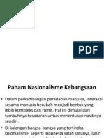 PAHAM NASIONALISME KEBANGSAAN