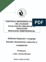 DIDACTICA ESPECIAL 1 Lenguaje (Lorena Alvarez)
