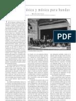 Bandas de música y música para bandas, por José Vélez García
