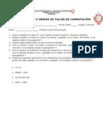 EVALUACIÓN DE UNIDAD - Quinto A