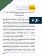 Communiqué FSM 2013