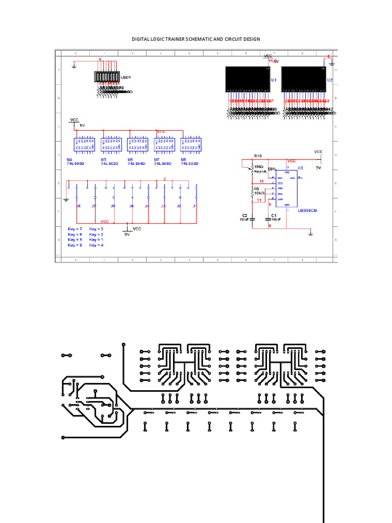 digital logic trainer schematic and circuit design rh scribd com  logic trainer schematic diagram