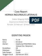 Case Report Hernia Inguinalis Lateralis