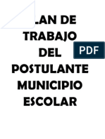 Plan de Trabajo Del Postulantemunicipio Escolar