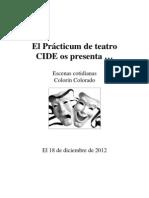 Programa de mano Otoño 2012