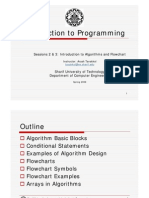 Sessions 2-3 (Algorithms and Flowchart)