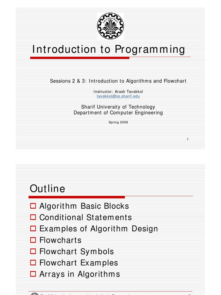 Sessions 2 3 Algorithms And Flowchart Algorithms Applied