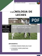 Tecnologia de Leches. Reglamentacion y Leyes en El Sector Lacteo(Listo)