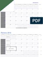 CalendarioExcel2012 Enero