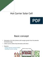 Hot Carrier Solar Cell