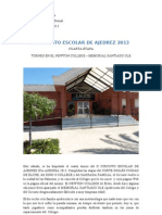 x Circuito Escolar de Ajedrez 2013 -Newton College