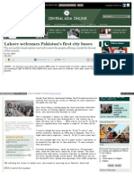 Lahore welcomes Pakistan's first city buses