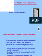 Health and Safety - Display Screen Equipment