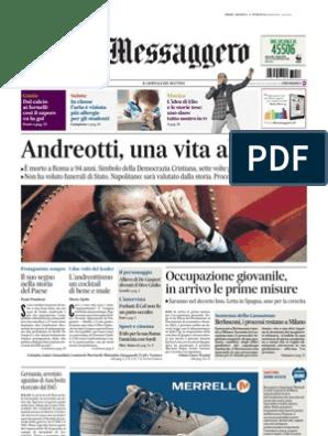 b4e7539b3a Il Messaggero 07.05.2013 (Morte Andreotti) | Silvio Berlusconi ...