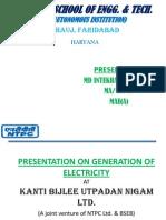 Presentation on Generation of Electricity