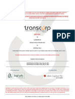Transnational Corporation of Nigeria Plc - Rights Issue Circular - April 2013