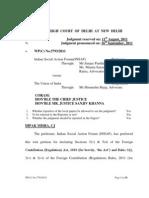 INSAF V/S UoI Delhi HC judgement