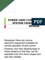 Power Grid Control System Using Gsm Modem
