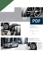 Audi A8 Accessories / Zubehor Catalogue 2013