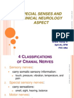 Special Senses and Clinical Neurolog Aspect