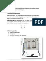 Relation between temperature and pressure Report