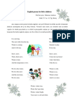 English Poems for Little Children