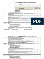 service learning grading rubric for project