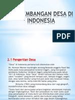 Perkembangan Desa Diindonesia