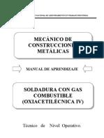 773 Soldadura con gas combustible (oxiacetilénica IV)