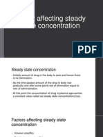 Factor Affecting Steady State Concentration