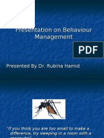 behaviour management dr