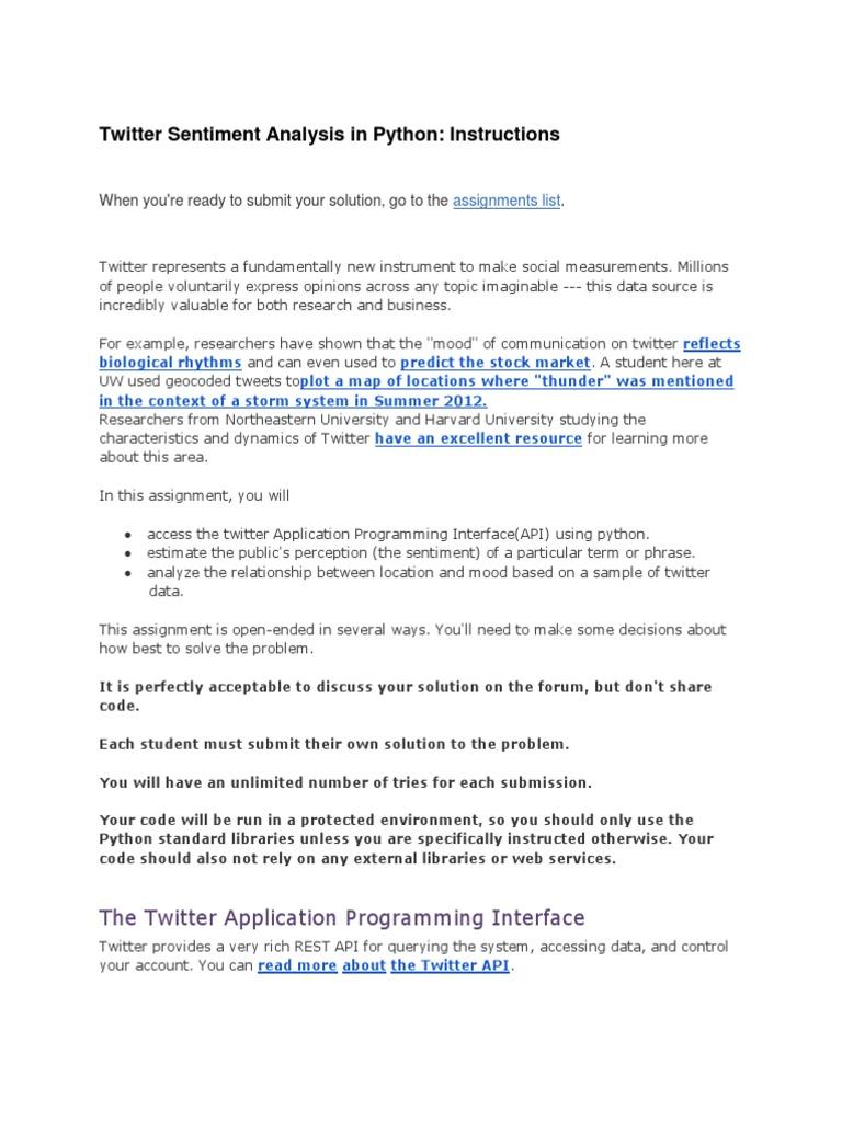 Twitter Sentiment Analysis in Python | Json | Twitter