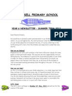 Year 6 Newsletter Summer 2013